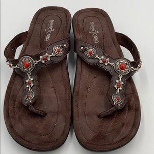 Euc Minnetonka Boca thong Southwestern sandals 10